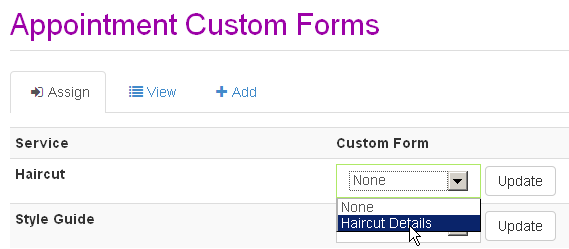 Assign Custom Form To Your Service Appointments