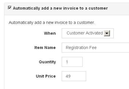 Automatically add a new invoice