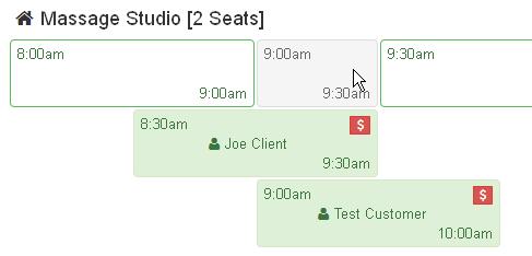 Appoitment calendar for locations